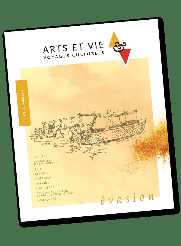Couverture du magazine art et vie imprimé par AGIR GRAPHIC