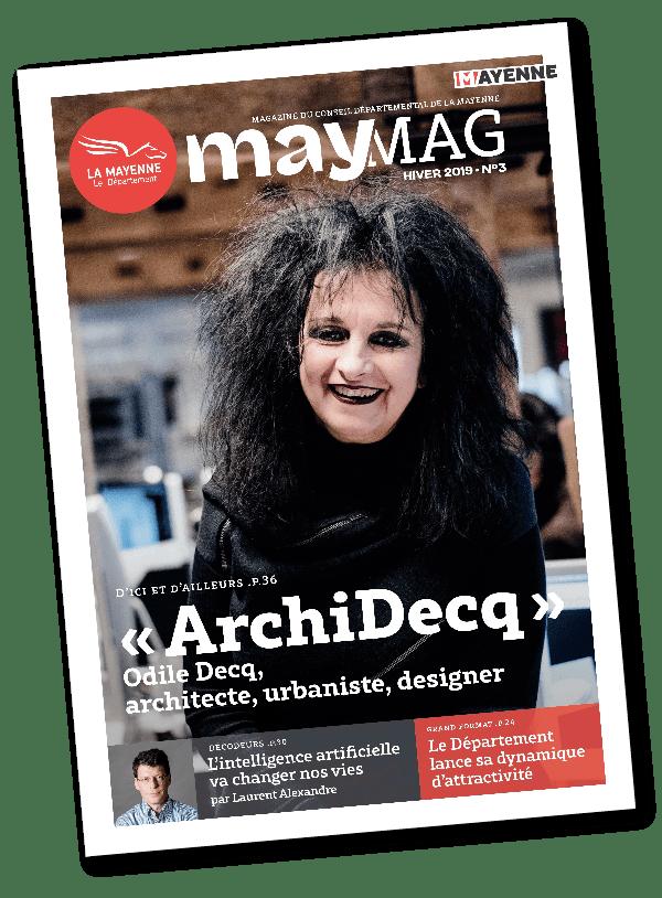 Couverture du magazine maymag imprimé par AGIR GRAPHIC