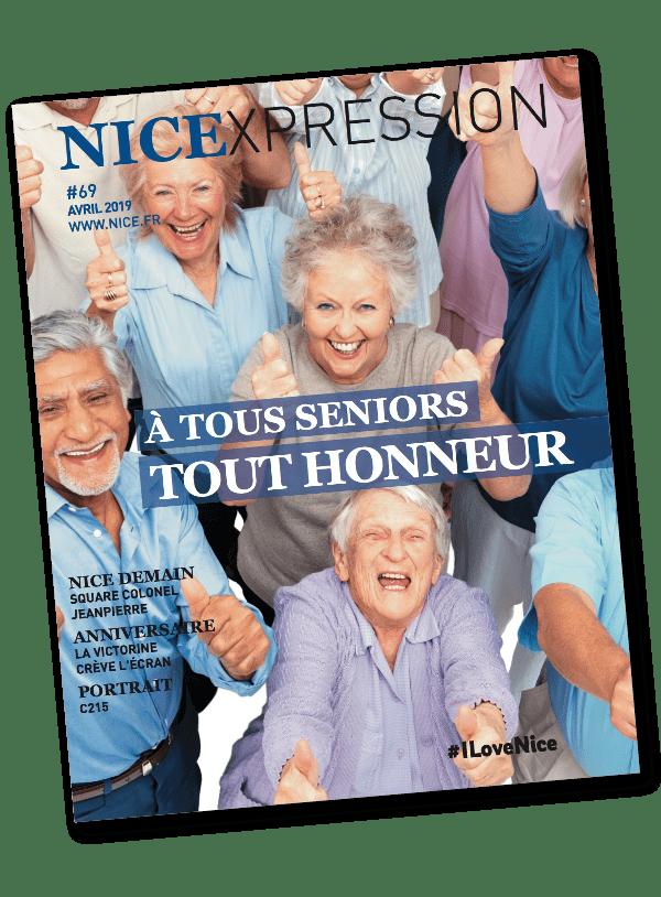 Couverture du brochure nice expression imprimé par AGIR GRAPHIC