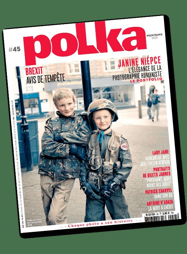 Couverture du magazine polka numéro 45 imprimé par AGIR GRAPHIC