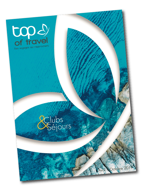 Couverture du catalogue top of travel imprimé par AGIR GRAPHIC