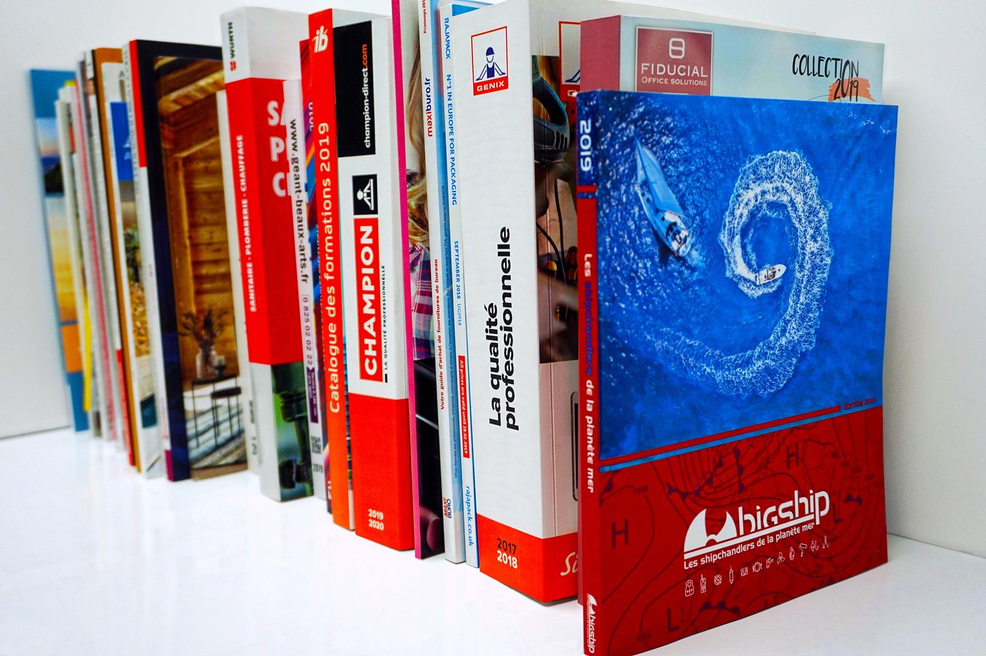 Les différents formats de catalogues d'AGIR GRAPHIC