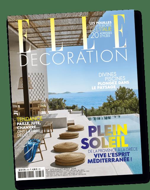 Couverture du magazine ELLE decoration été 2019 imprimé par AGIR GRAPHIC