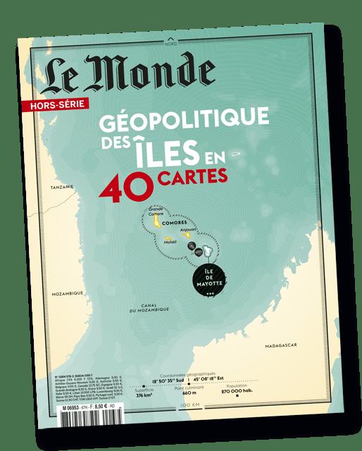 Couverture du magazine Le Monde, hors série géopolitique des îles en 40 cartes de l'été 2019 imprimé par AGIR GRAPHIC