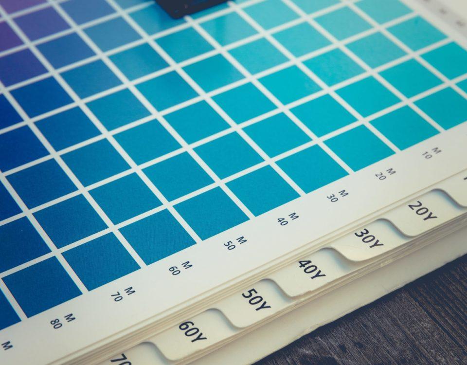 Illustration d'une création de couleur pantone pour vos impressions