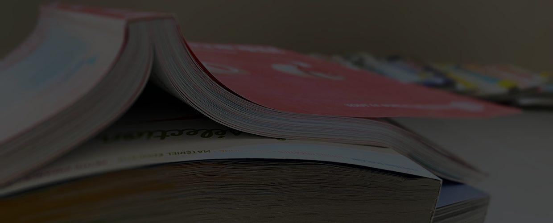 Catalogue imprimée : finition carré collé