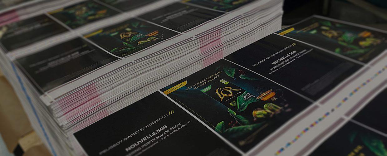Logistique Marketing - Couvertures imprimées, rangée sur des palette