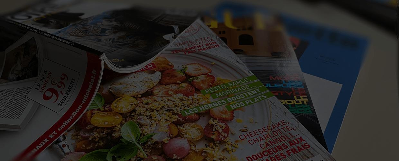 Magazine imprimé : couverture